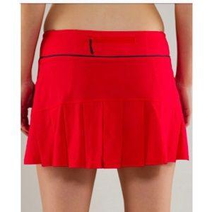 LULULEMON | Red Run Speed Skirt Tennis Pleated 4
